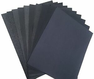 22 Pieces Premium Latex Backed Sandpaper Wet Dry Variety Pack 5 5 X 4 5