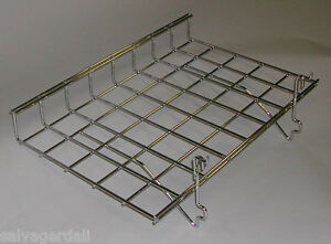 Straight Shelf Lip Gridwall Slatwall Pegboard Panel Chrome 24 x15 Lot Of 5 New