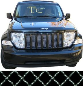 Ccg Mesh Grill Insert Kit For 08 12 Jeep Liberty Grille Aluminum Woven Silver Fits Jeep Liberty