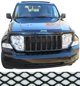 Ccg Mesh Grill Insert Kit For 08 12 Jeep Liberty Grille Hexagon Xxl Black
