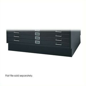 Safco Closed Base For 4994 Flat File Cabinet In Black