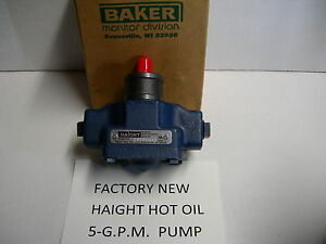 New Haight Hot Oil Pump 5 gpm Fits Broaster Replacement For Oem part 09273