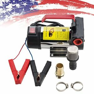 Portable 12v Dc Electric Fuel Transfer Pump Diesel Kerosene Oil Commercial Auto