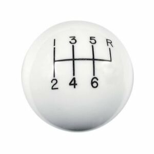 Hurst Shifters Shift Knob Round Plastic White 6 Speed Pattern Manual 1630040