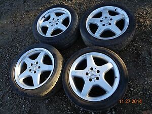 1999 2002 Mercedes benz W208 Oem Clk430 Amg 17 Wheels Rims Tires Clk55 Clk320