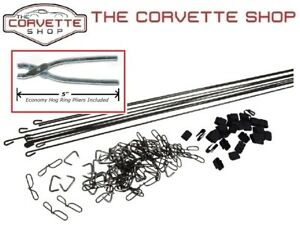 C2 Corvette Seat Cover Install Kit With Hog Ring Pliers 1967 X2085 4904
