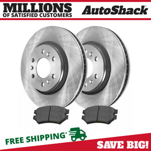 Front 2 Brake Rotors 4 Ceramic Brake Pad For 06 2008 2009 Chevrolet Uplander