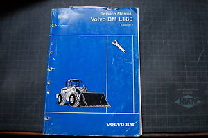 Volvo L180 Wheel Loader Service Manual Repair Front End Book Owner Guide Shop