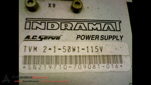 Indramat Tvm 2 1 50w1 115v Servo Power Supply 115v 174182