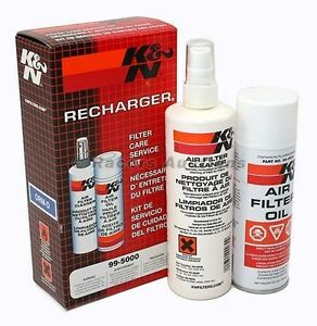 Knn Air Filter Cleaner And Oil Recharger Kit Spray Aerosol Can K