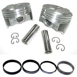 Speed Pro H618cp Chevy 350 125 Dome Hyper Pistons Moly Rings Kit Std Bore Sbc