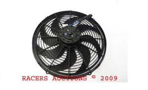 16 Curved Blade Electric Radiator Cooling Fan Universal W Heavy Duty Motor