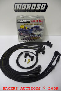 Moroso 9867m Plug Wire Set 8mm Hei 90 Under Black Assembled Small Block Chevy