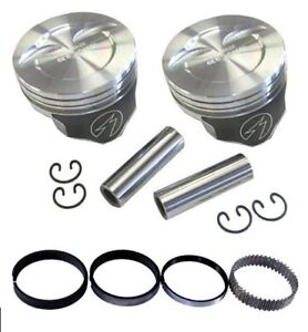 Speed Pro H859cp60 Chevy 383 388 Dished Hyper Pistons Moly Rings Kit 060 Sbc