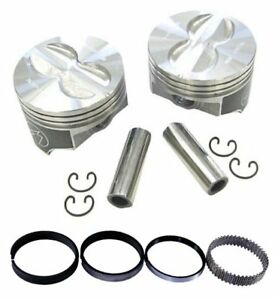 Speed Pro H616cp40 Chevy 400 408 Flat Top Hyper Pistons Moly Rings Kit 040 Sbc