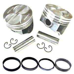 Speed Pro H273cp Ford 289 302 Flat Top Hyper Pistons Moly Rings Kit Std Bore