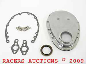 Small Block Chevy 350 Aluminum Timing Chain Cover Kit With Gaskets 327 383 400