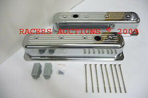 Sbc Vortec Centerbolt Small Block Chevy Aluminum Valve Covers Ball Milled 350