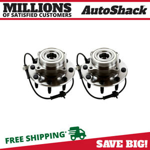 2 New Premium Front Wheel Hub Bearings Left Right Pair Fits Chevrolet Gmc Hummer