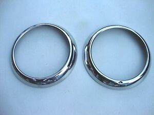 49 50 1949 1950 Ford Car Stainless Outer Headlight Door Ring New