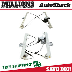 Front Pair 2 Power Window Regulator W Motor For 99 06 Chevrolet Silverado 1500