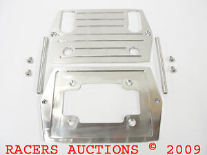 Optima 75 25 Polished Aluminum Battery Tray W Ball Mill Top Red Yellow D75 25