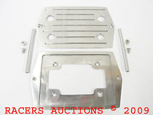 Optima 35 Polished Aluminum Battery Tray W Ball Milled Top Red Yellow D35