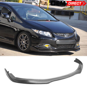 For 12 13 Honda Civic Coupe 2d Cs Style Front Bumper Lip Spoiler