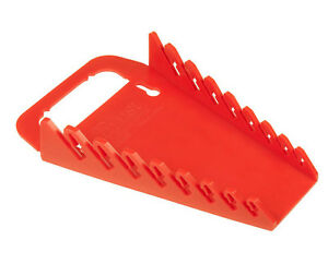 Ernst 5046 8 Tool Gripper Wrench Organizer Red