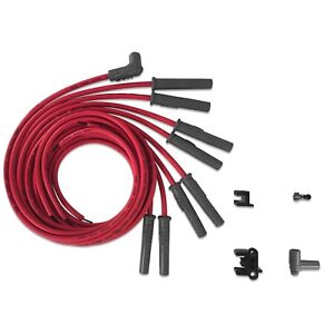 Msd Ignition 31189 Universal Spark Plug Wires 8 Cylinder Hei Red Straight Boots