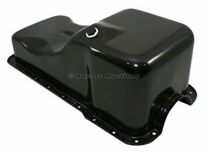 Small Block Ford Oil Pan Front Sump Black Stock Capacity 289 302 5 0 Sbf Windsor