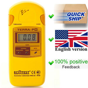 New Terra p Plus Ecotest Dosimeter radiometer geiger Counter radiation Detector