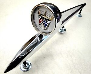 57 1957 Ford Car Fairlane Hood Ornament Gold Crest New