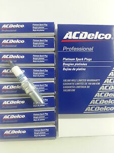 Set Of 8 Ac Delco 41 950 Platinum Spark Plugs 19244471
