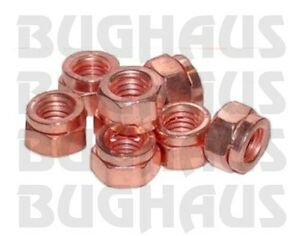 Vw Beetle Bug Bus Ghia Type 3 Thing Copper Coated Exhaust Nut Set Free Ship