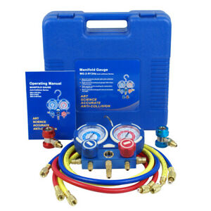 R134a R410a R22 Ac A c Manifold Gauge Set 4ft Colored Hose Air Conditioner