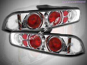 Fit For 94 01 Acura Integra Halo Tail Lights 2 Doors Chrome 00 99 98