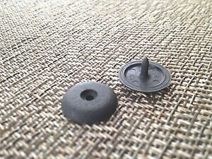 Seat Belt Buckle Button Clip Stopper Universal Kit Fits Any Ford In Grey Color