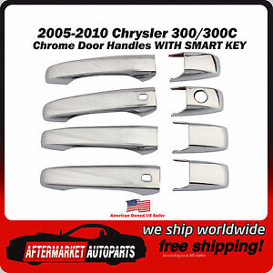 2005 2010 Chrysler 300 Chrome Trim Door Handle Covers With Smart Key Inserts