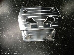Polished Aluminum Billet Milled Optima Hold Down Battery Bracket Tray Red Yellow
