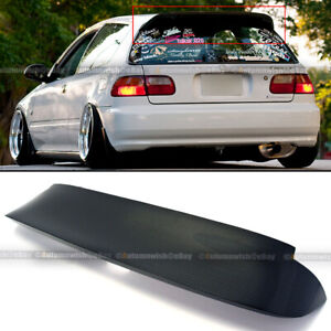 For 92 95 Civic 3dr Spoon Style Carbon Fiber Duckbill Trunk Roof Spoiler Wing