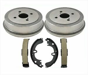 New Rear Brake Drums Shoes Pair Set New For Toyota Corolla 94 02 Prizm 93 02 3pc