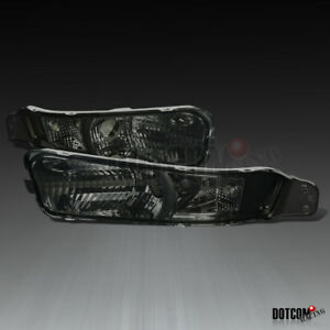 For 2005 2009 Ford Mustang Smoke Tinted Lens Turning Signal Lamps Bumper Lights