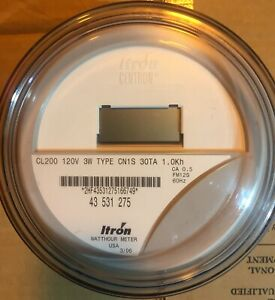 Itron Watthour Meter kwh Cn1sr Network Form 12s 200a 120v 5 Lugs 3wire