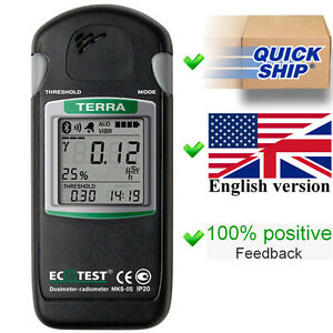 Terra Mks 05 With Bluetooth Dosimeter geiger Counter radiation Detector Ecotest