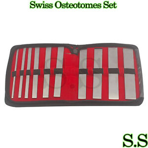 10 Swiss Osteotomes Set Orthopedic Surgical Instruments