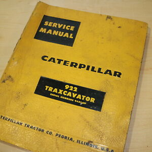 Cat Caterpillar 922 Traxcavator Track Loader Repair Shop Service Manual Crawler