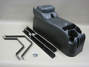 P71 Black Center Console W Armrest With No Drill Mount Kit Crown Victoria Police