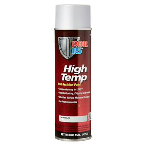 Por 15 44318 High Temp Aerosol Header Paint 1200 Degree Aluminum 15oz Can