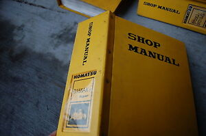 Komatsu D155ax 3 Dozer Crawler Tractor Repair Service Manual Book Bulldozer Shop